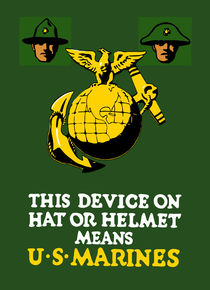 This device on hat or helmet means U.S. Marines by warishellstore