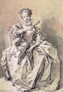 Woman in Spanish Costume  by Francois Boucher