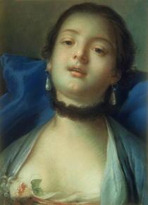 Portrait of a Woman  von Francois Boucher