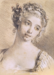 Head of a Young Girl  by Francois Boucher