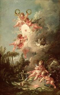 Cupid`s Target, from `Les Amours des Dieux` von Francois Boucher