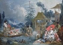 The Chinese Fishermen von Francois Boucher