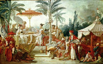 Feast of the Chinese Emperor, study for a tapestry cartoon von Francois Boucher