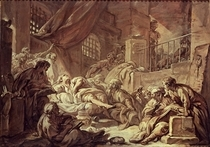 Study for a Prison Scene  by Francois Boucher
