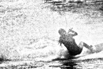 Wakeboarding Monochrom 1 von Marc Heiligenstein