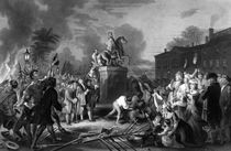 Pulling Down The Statue Of George III by warishellstore