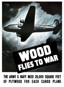 Wood Flies To War -- WW2 von warishellstore