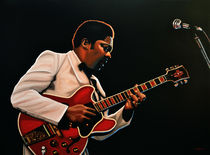 B. B. King painting by Paul Meijering