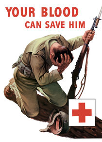 Your Blood Can Save Him -- Red Cross WWII by warishellstore