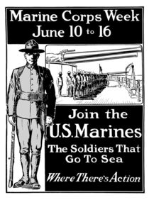 Join The U.S. Marines -- The Soldiers That Go To Sea von warishellstore