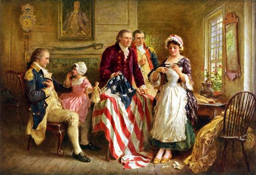556-george-washington-betsy-ross-american-flag-painting