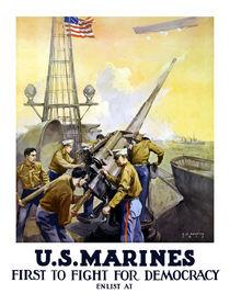 US Marines -- First To Fight For Democracy von warishellstore