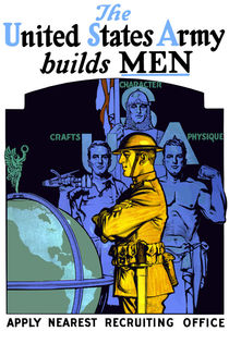 The Army Builds Men -- WWI Recruiting  by warishellstore