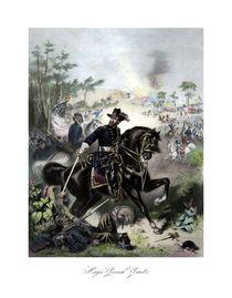 603-general-us-grant-on-horseback-color-painting