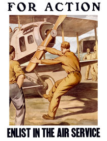 For Action - Enlist In The Air Service by warishellstore