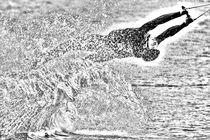 Wakeboarding Monochrom 2 von Marc Heiligenstein