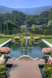 Fountain at Filoli Gardens by agrofilms