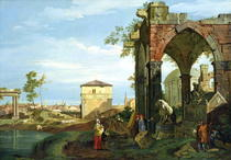 Capriccio with Motifs from Padua by Giovanni Antonio Canal Canaletto