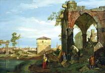 Capriccio with Motifs from Padua von Giovanni Antonio Canal Canaletto