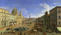 View of the Piazza Navona by Giovanni Antonio Canal Canaletto