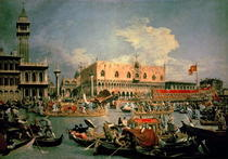 Return of the Bucintoro on Ascension Day von Giovanni Antonio Canal Canaletto