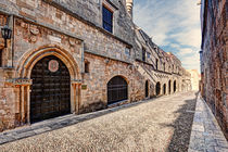 The Street of the Knights in Rhodes, Greece by Constantinos Iliopoulos