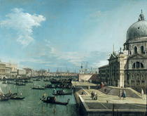 The Entrance to the Grand Canal and the church of Santa Maria de von Giovanni Antonio Canal Canaletto
