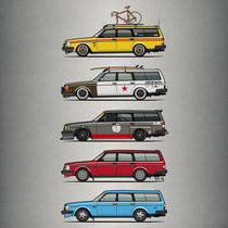'A Stack of Volvo 245 Wagons' by monkeycrisisonmars