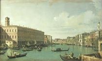 The Grand Canal from the Rialto Bridge  von Giovanni Antonio Canal Canaletto