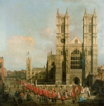 Procession of the Knights of the Bath von Giovanni Antonio Canal Canaletto