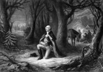 General Washington Praying At Valley Forge von warishellstore