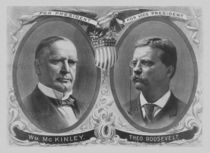 McKinley and Roosevelt Election Poster von warishellstore
