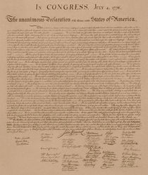 The Declaration of Independence by warishellstore