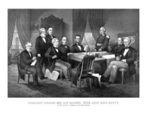 President Lincoln, His Cabinet, and General Scott von warishellstore