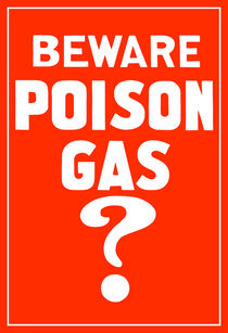 Beware Poison Gas? World War 1 Poster von warishellstore