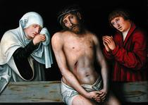 Christ as the Man of Sorrows with the Virgin and St. John  von Lucas Cranach the Elder