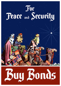 For Peace and Security Buy Bonds - WWII von warishellstore