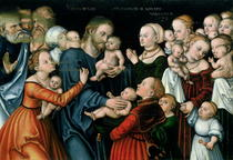 Suffer the Little Children to Come Unto Me by Lucas Cranach the Elder