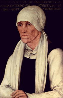 Margarethe Luther  by Lucas Cranach the Elder