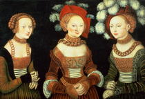 Three princesses of Saxony, Sibylla  by Lucas Cranach the Elder