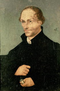 Portrait of Philipp Melanchthon  by Lucas Cranach the Elder