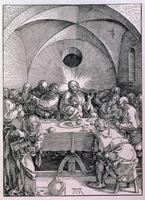 The Last Supper from the `Great Passion` series by Albrecht Dürer