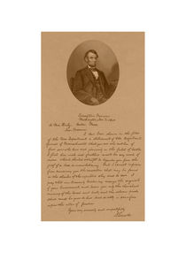 President Abraham Lincoln Letter To Mrs. Bixby  by warishellstore
