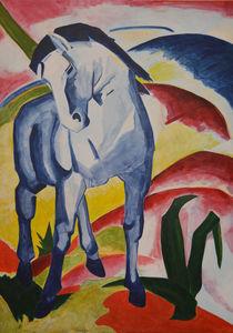 kleines blaues Pferd von Eike Holtzhauer