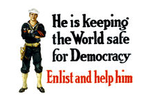 He Is Keeping The World Safe For Democracy - WWI by warishellstore