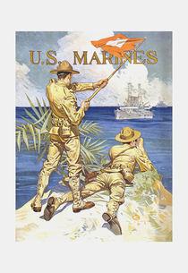 US Marines Poster - World War 1 von warishellstore