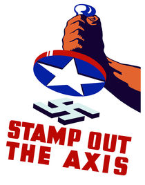 Stamp Out The Axis - WWII by warishellstore