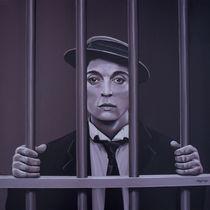 Buster Keaton painting von Paul Meijering
