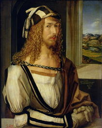 Self Portrait with Gloves by Albrecht Dürer