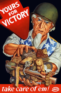 Yours For Victory, take care of 'em - WWII Propaganda von warishellstore